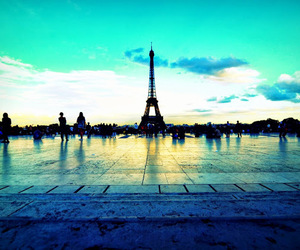 blue, eiffel tower, and france image