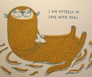 love, otter, and cute image