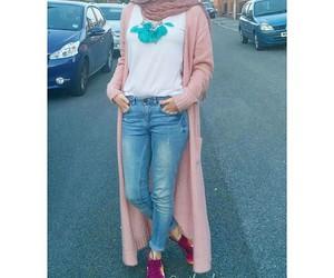 black, hijab, and makeup image