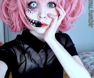 beautiful, halloween makeup, and cute image