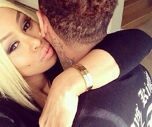 couple, tyga, and love image