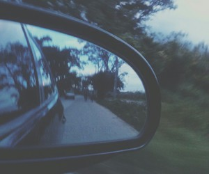 car, indie, and mirror image
