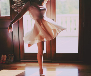 girl, dance, and dress image