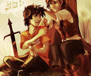percy jackson, nico di angelo, and bianca di angelo image