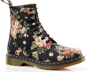 dr martens, flowers, and fashion image