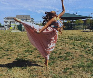 dance, floral, and free spirit image