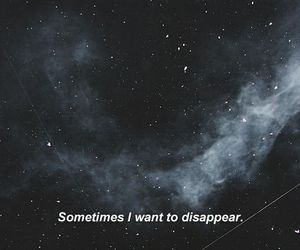 galaxy, quote, and sad image
