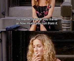 sex and the city, past, and Carrie Bradshaw image