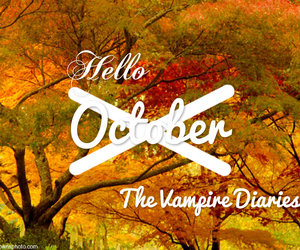 hello, october, and the vampire diaries image