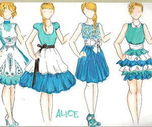 alice, art, and disney image