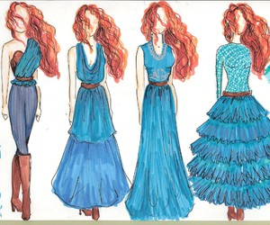 brave, disney, and fashion image