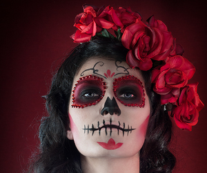 day of the dead, makeup, and mexican image