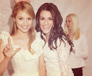 blonde, lea michelle, and dianna agron image