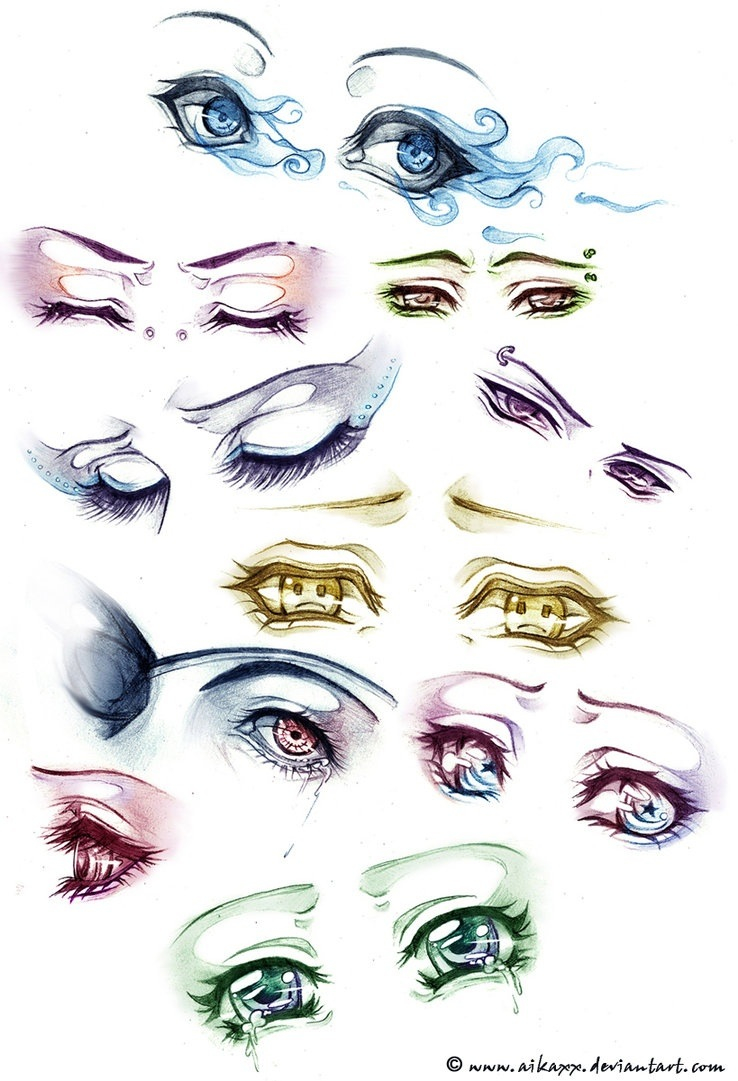 Eye styles~ uploaded by The Quirk Kid on We Heart It