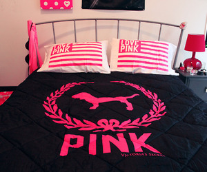 pink, bed, and Victoria's Secret image