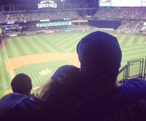 baseball, couple, and cute image