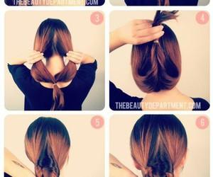 bun, hair, and hairstyle image