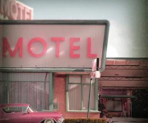 motel, pink, and vintage image