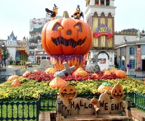 Halloween, pumpkin, and kid image