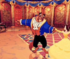 beauty and the beast, disney, and belle image