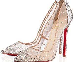 red bottom shoes, red sole shoes, and chic image