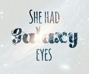 cool, eyes, and galaxy image