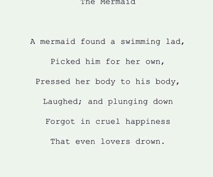 mermaid, love, and quote image