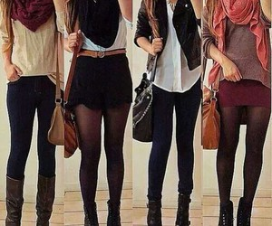 boots, fall outfit, and scarf outfit image