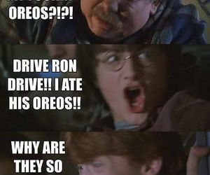 harry potter, oreo, and funny image