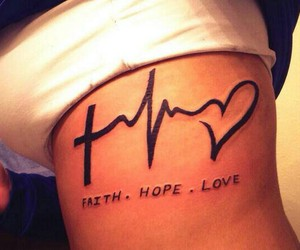 hope, tattoo, and love image