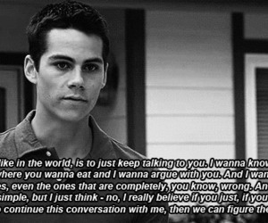 love, quotes, and dylan o'brien image
