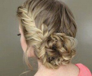 blonde hair, braid, and fashion image