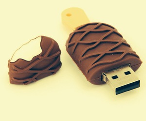 ice cream, usb, and chocolate image