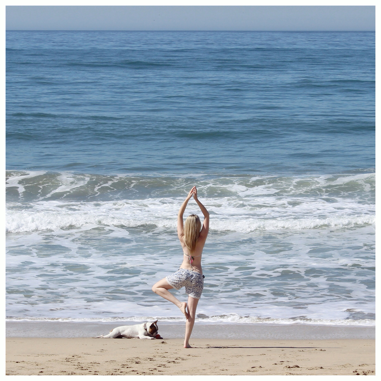 beach and yoga image