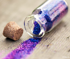 glitter, purple, and magic image