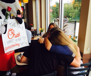 homecoming, chick-fil-a, and she said yes image
