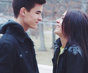 kian lawley, love, and andrea russett image