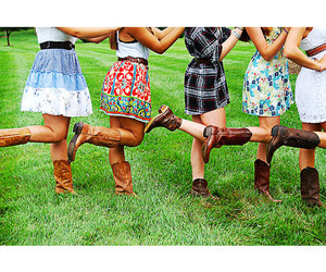 dress, girls, and boots image