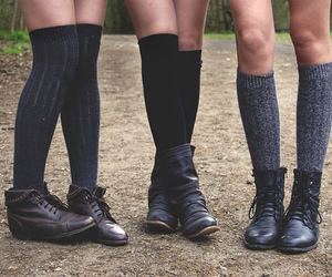 shoes, legs, and socks image