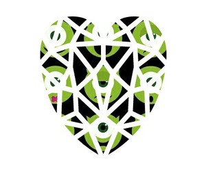 black, green, and heart image