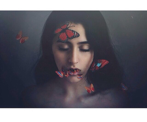 butterfly, girl, and photography image