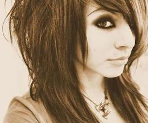 emo girl, beautiful emo, and sepia pict image