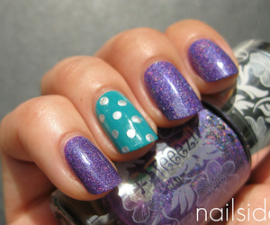 dots, nails, and purple image