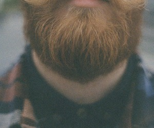beard, red, and indie image