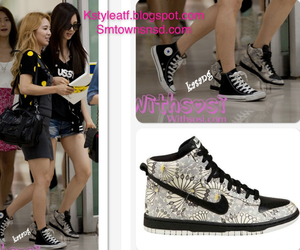 shoes, snsd, and airport fashion image