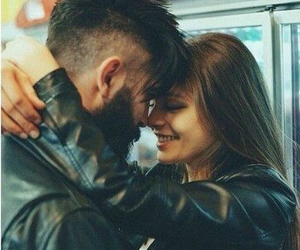 beard, boyfriend, and girl image