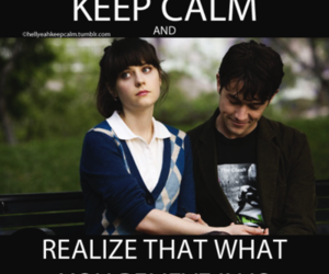 500 Days of Summer, keep calm, and believe image