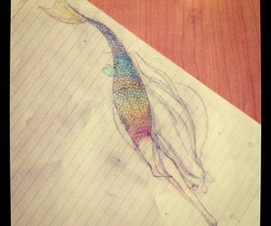 drawing, pretty, and rainbow image