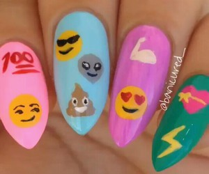 nails, pink, and emoji image