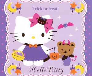 Halloween, hello kitty, and kitty image